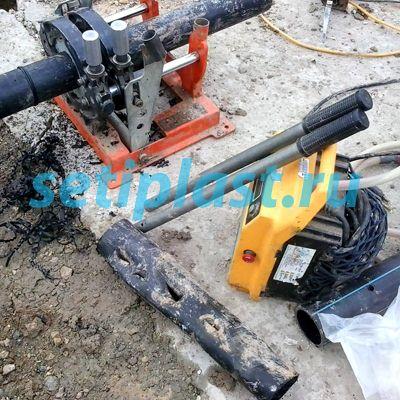 Вставка для ремонта трубы ПНД