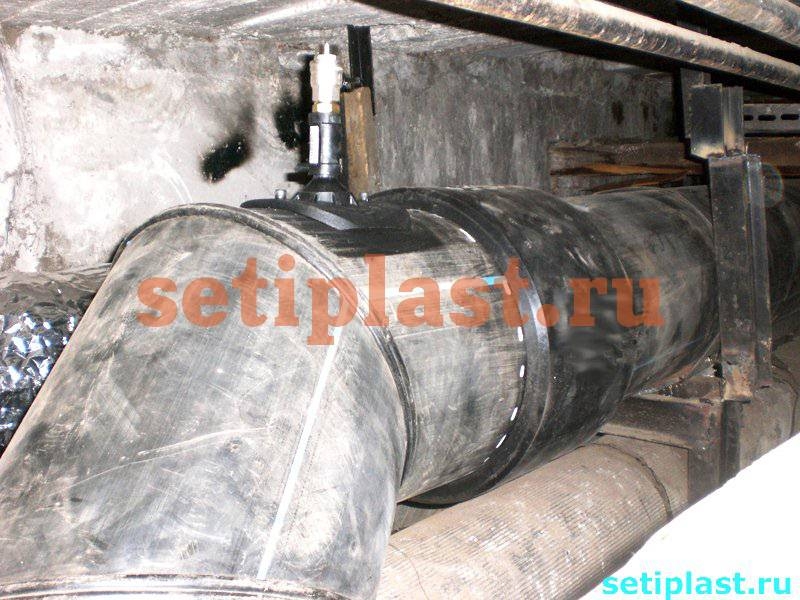 Электросварной патрубок-накладка ПНД