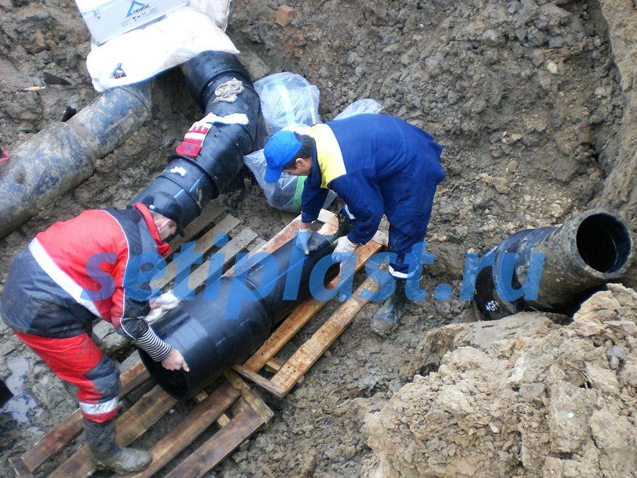 Аварийный ремонт трубы