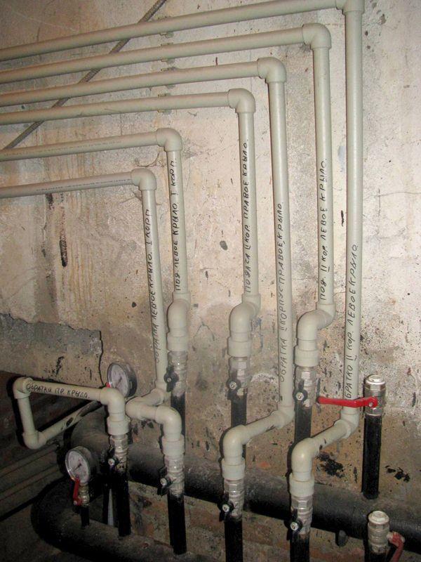 Пластиковые трубы системы отопления