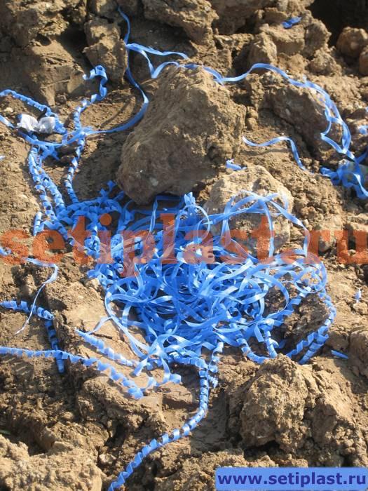 Стружка ПЭ голубого цвета