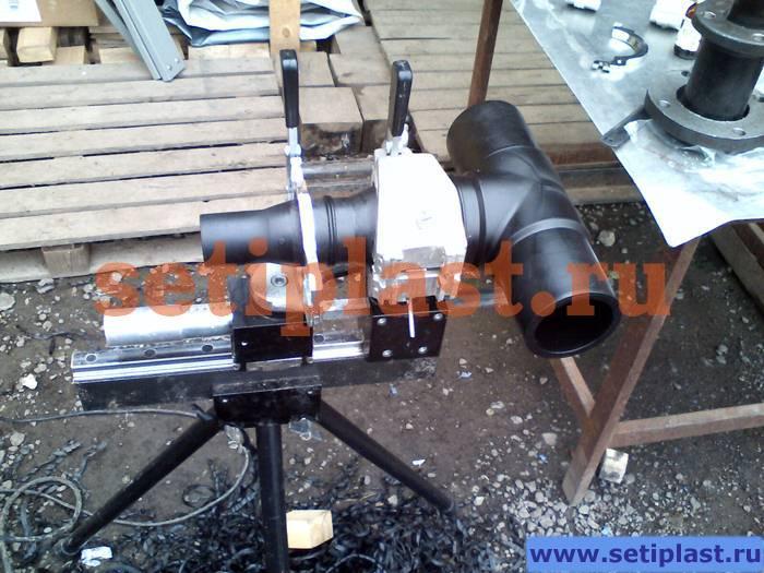Стыкование трубы ПЭ 63 мм
