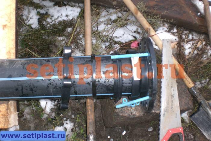 Монтаж адаптера AquaFast для ПЭ труб