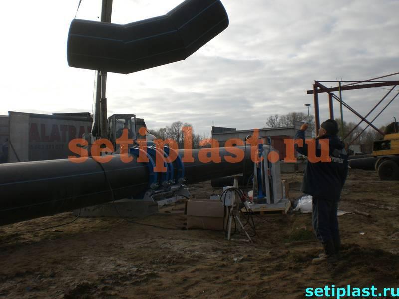 Отвод ПЭ трубы 1200 мм
