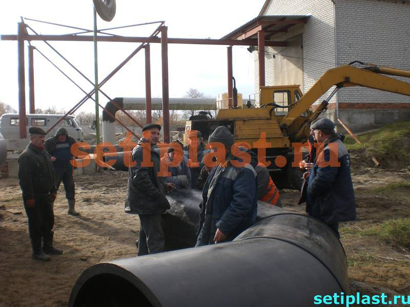 Полиэтиленовый отвод 1200 мм