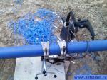 Стыковая сварка трубы 110 мм