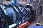 Стык трубы ПНД 400 мм в котловане