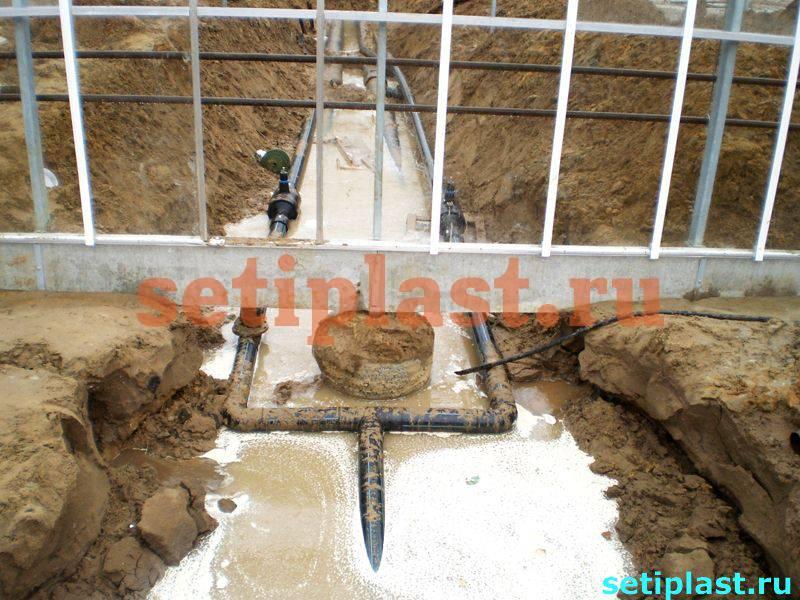 Фото водопровода в теплице