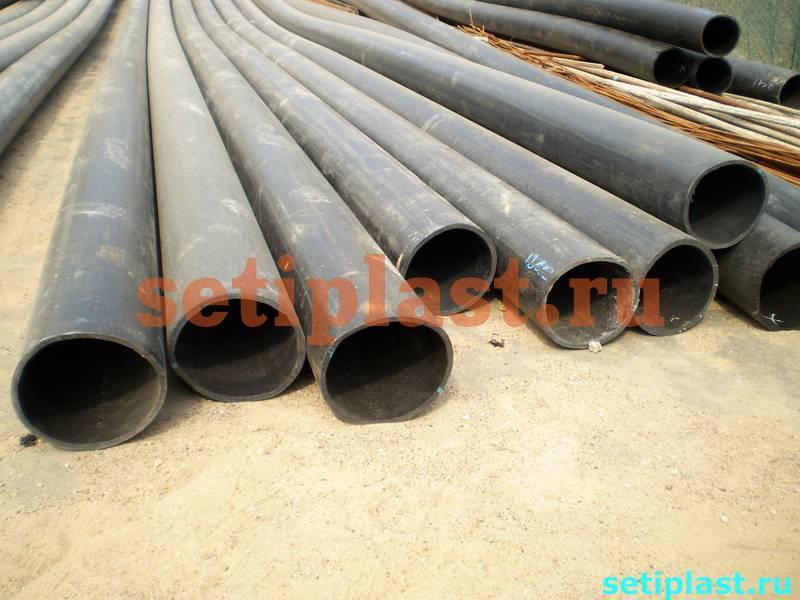 Торцы технической полиэтиленовой трубы