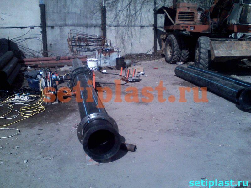 Фланец и труба ПНД 315 мм