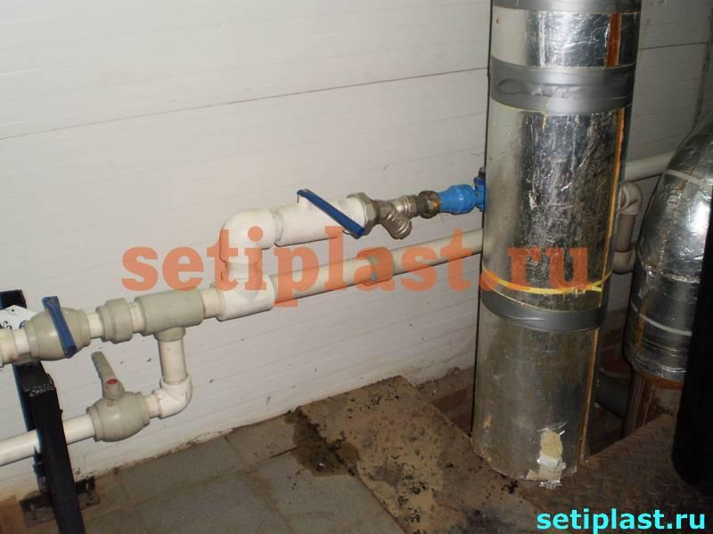 Ввод в здание водопровода