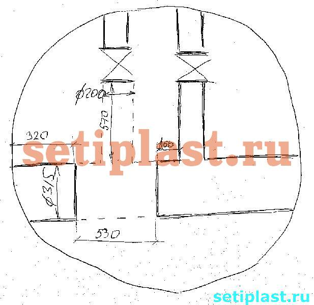 Схема демонтажа стального тройника