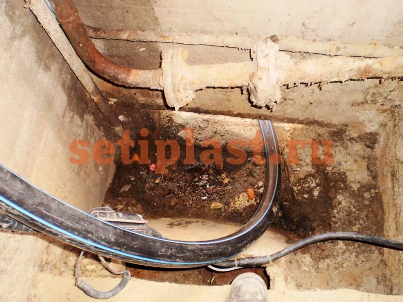Подъем трубы из бухты без отвода