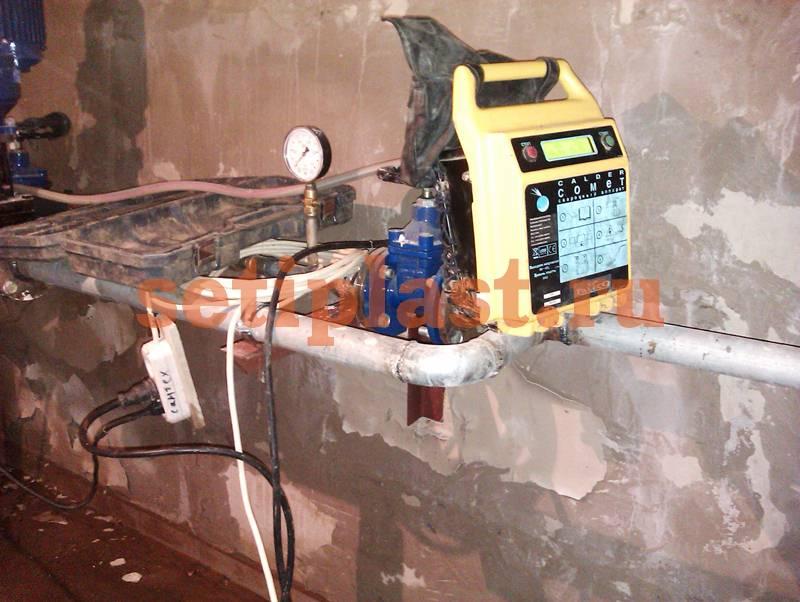 Электромуфтовый аппарат в подвале
