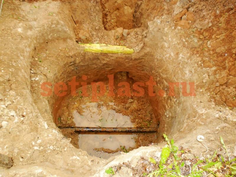 Место врезки в водопровод