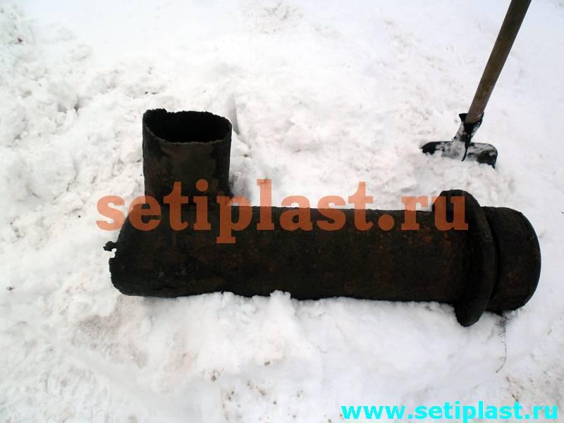 Демонтаж стальной трубы